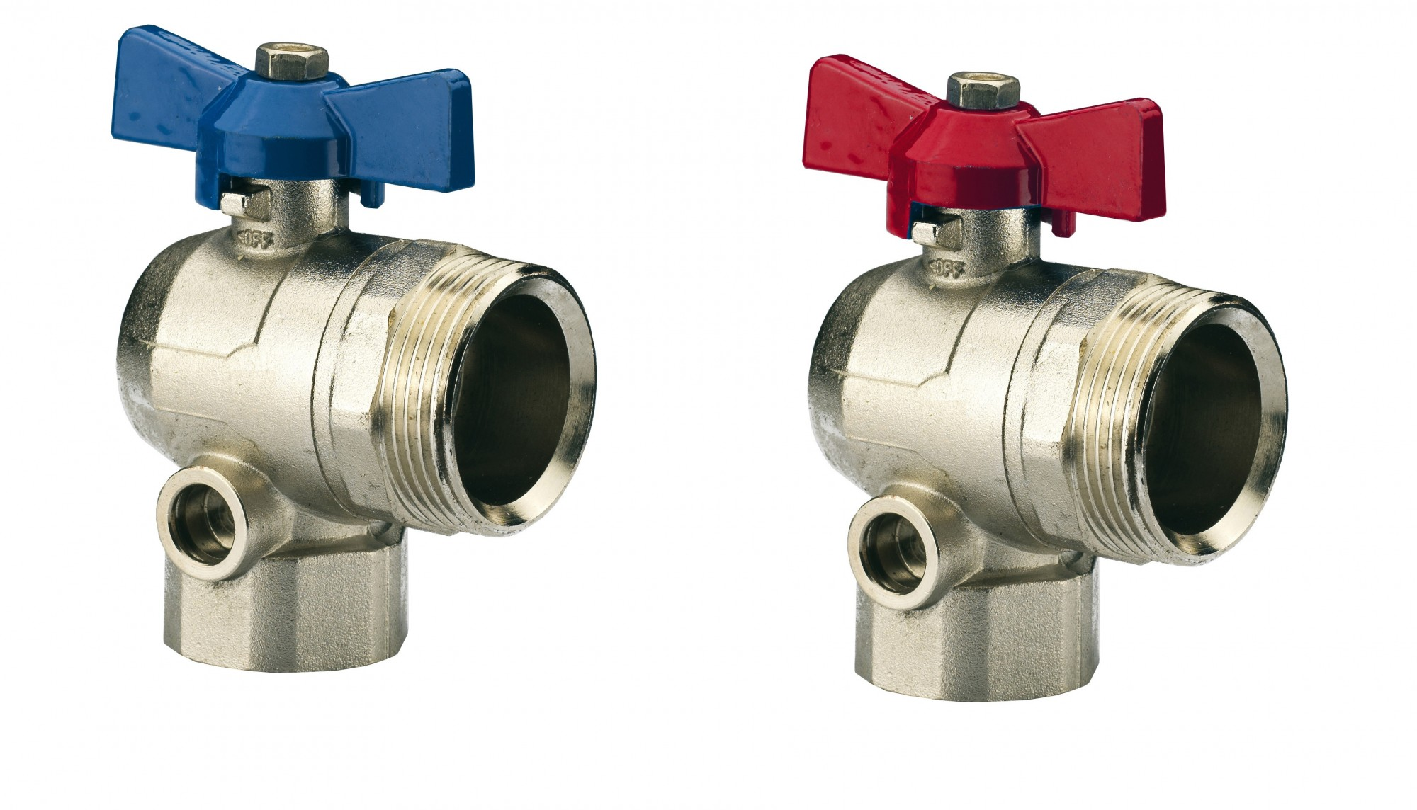 "Image 1 of Angled Ball Valve 3/4"" Pair"