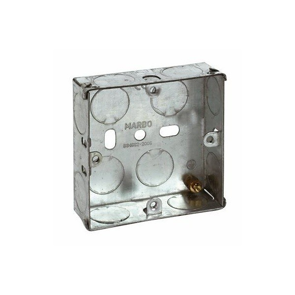 Metal Single Gang Back Box