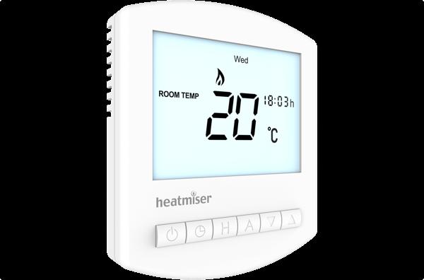 Image 2 of Heatmiser Slimline-HW-N 12v Programmable Digital Thermostat
