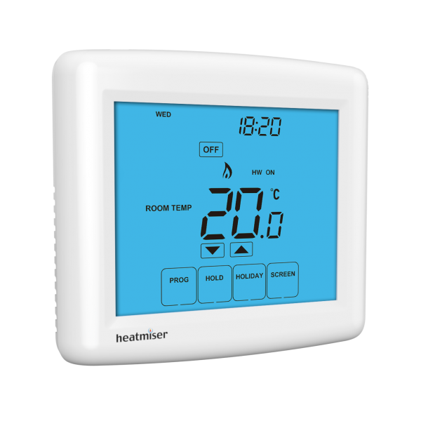 Heatmiser Touch-HWN - 12v Heating & Hot Water Thermostat