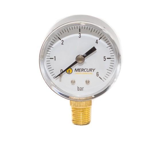 Image 1 of  Pressure Gauge 0-6 Bar Bottom Con