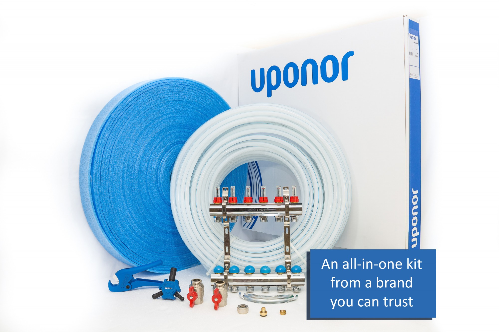 Image 1 of Uponor Screed Multi Area Underfloor Heating Kit