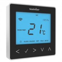 Heatmiser NeoStat 12v - Programmable Thermostat - Sapphire Black Front