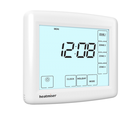 Image 1 of Heatmiser TM4 230v Touchscreen Time Clock four Channel